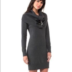 Michael Kors sweater dress with buckled collar